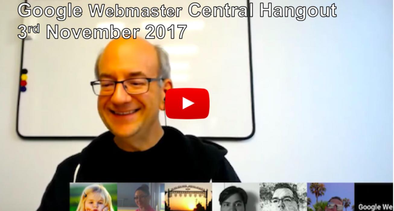 google webmaster central hangout archives deepcrawl