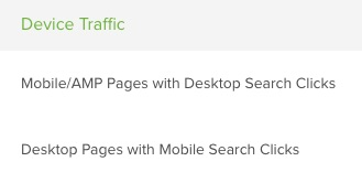 Device traffic report in DeepCrawl
