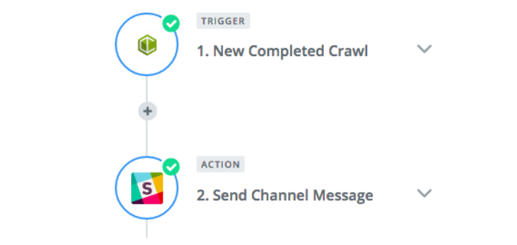 Creating a Zap with DeepCrawl and Slack