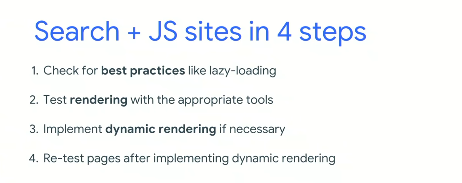 4 steps for JS rendering