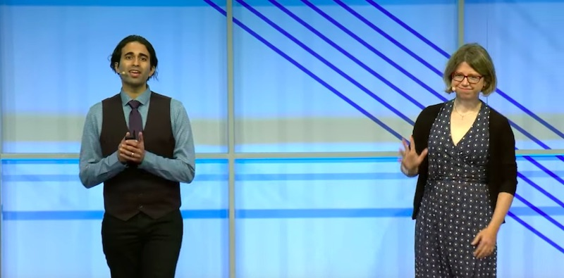 Addy Osmani & Ewa Gasperowicz at Google I/O 2018