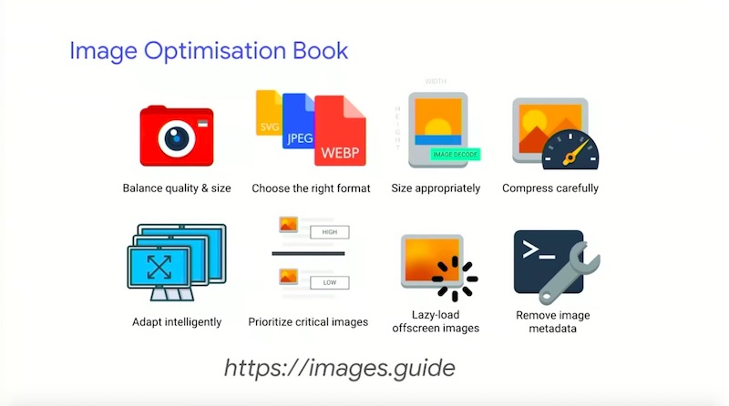 Addy Osmani image optimisation ebook