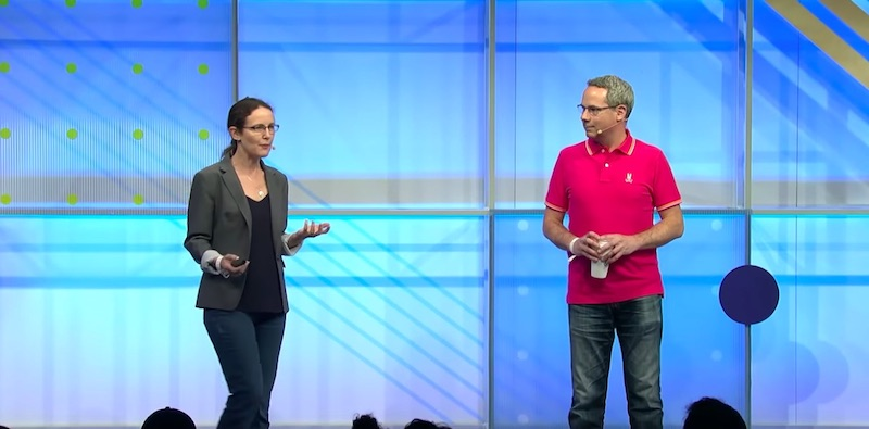 Jenny Gove & Pete LePage at Google I/O 2018