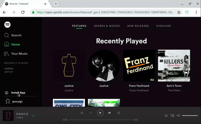 Spotify desktop PWA live demo