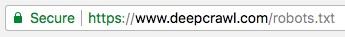 DeepCrawl's robots.txt