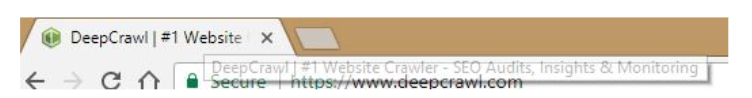 DeepCrawl browser heading