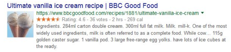 BBC Good Food rich snippet