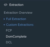 Screenshot of the custom extraction reports in DeepCrawl