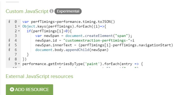 DeepCrawl Custom JavaScript