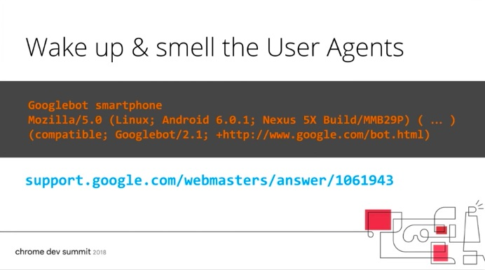 User agent sniffing example