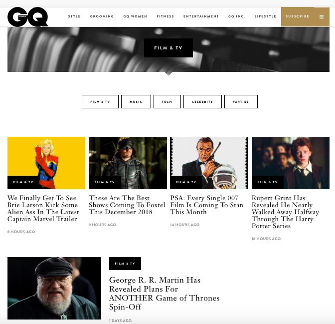 GQ hub page