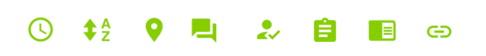 Website categorisation icons