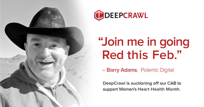 Barry Adams in DeepCrawl's Go Red campaign