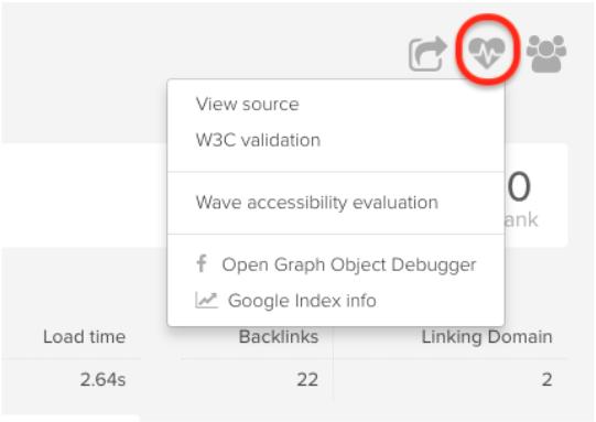 DeepCrawl accessibility options
