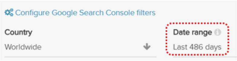 DeepCrawl Google Searc Console integration