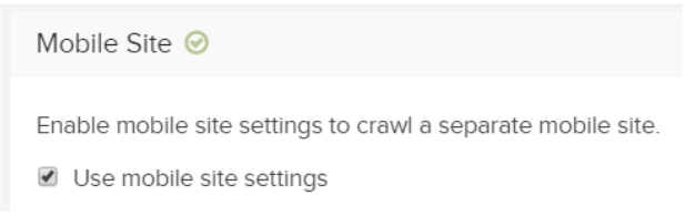 DeepCrawl mobile user-agent