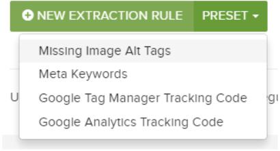 DeepCrawl custom extraction