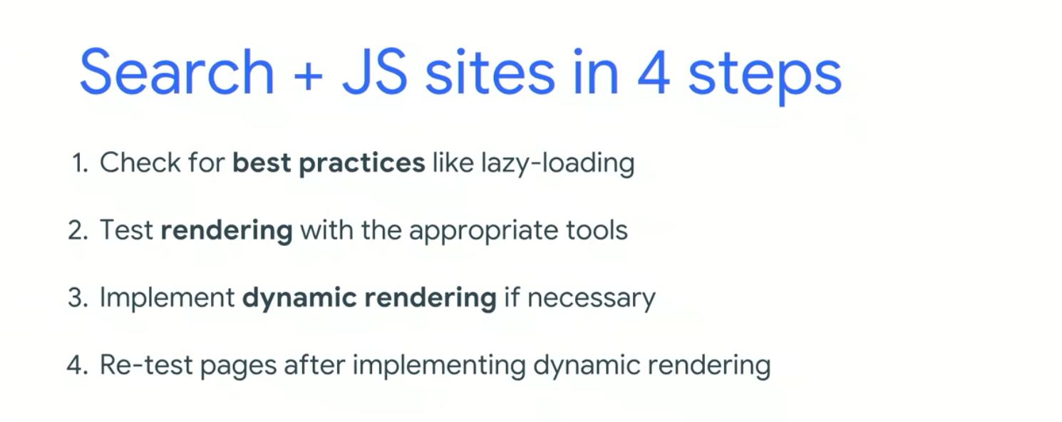 4 steps for JS rendering