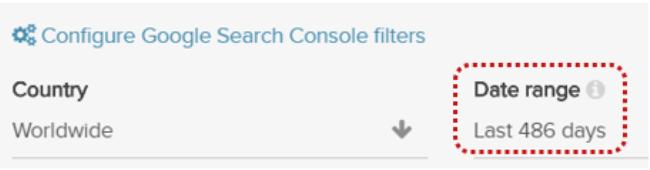 DeepCrawl Search Console filter