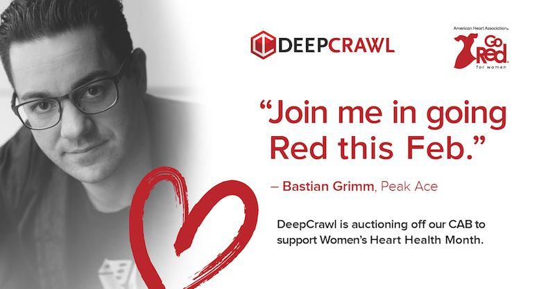 Bastian Grimm in DeepCrawl's Go Red campaign