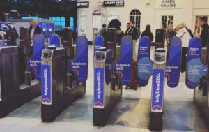 BrightonSEO train barriers