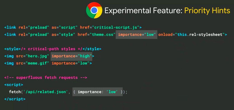 Chrome Priority Hints