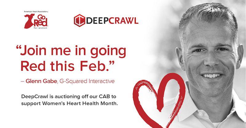 Glenn Gabe in DeepCrawl's Go Red campaign