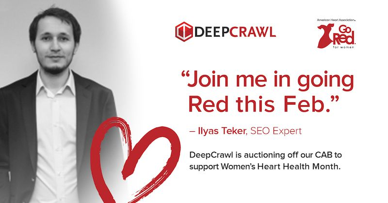 Ilyas Teker in DeepCrawl's Go Red campaign