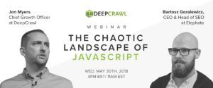 JavaScript webinar with Bartosz Goralewicz & Jon Myers