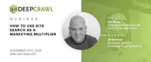 DeepCrawl webinar with JP Sherman on site search