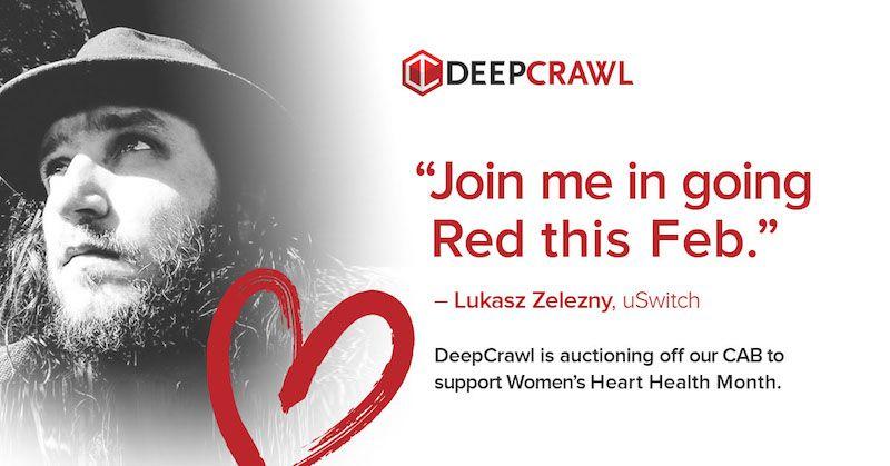 Lukasz Zelezny in DeepCrawl's Go Red campaign