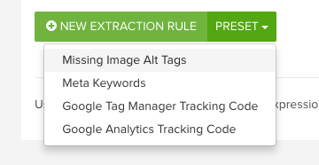 Missing Image Alt Tags DeepCrawl custom extraction