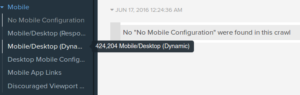 DeepCrawl 2.0 mobile reports