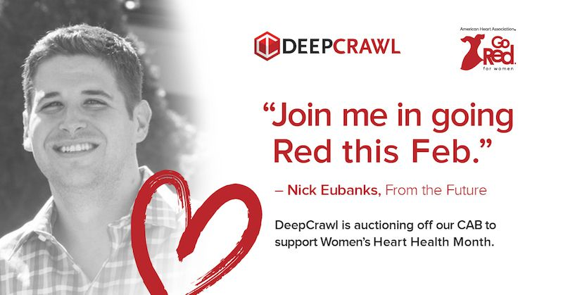 Nick Eubanks in DeepCrawl's Go Red campaign