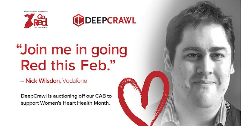 Nick Wilsdon in DeepCrawl's Go Red campaign