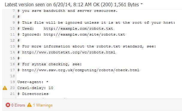 techinical robottxt tester DeepCrawl