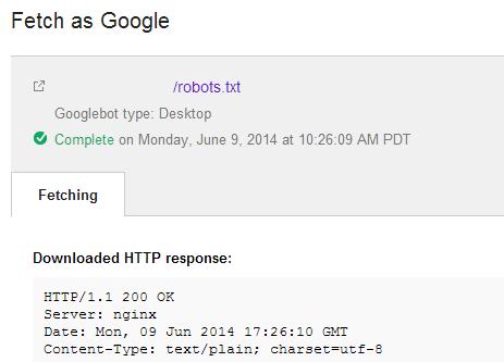 technical audit fetch as google DeepCrawl