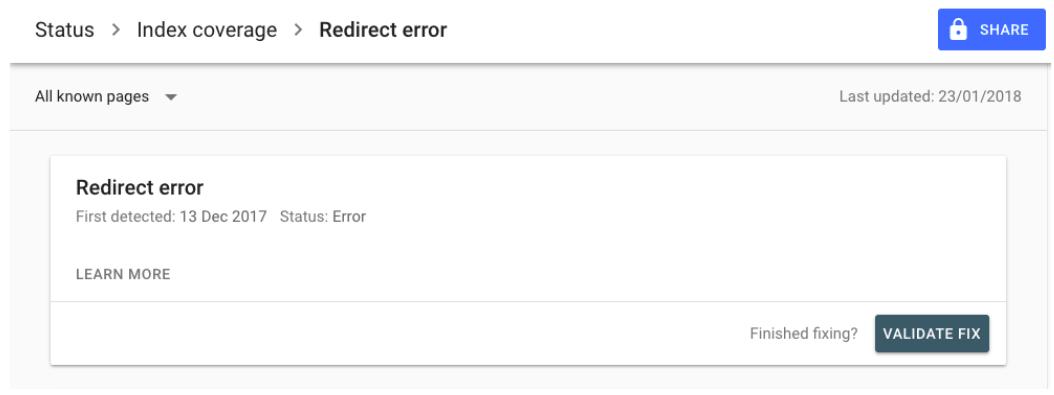 gsc validate fix feature