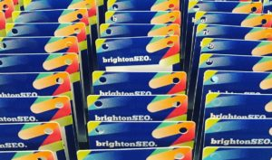 BrightonSEO name badges