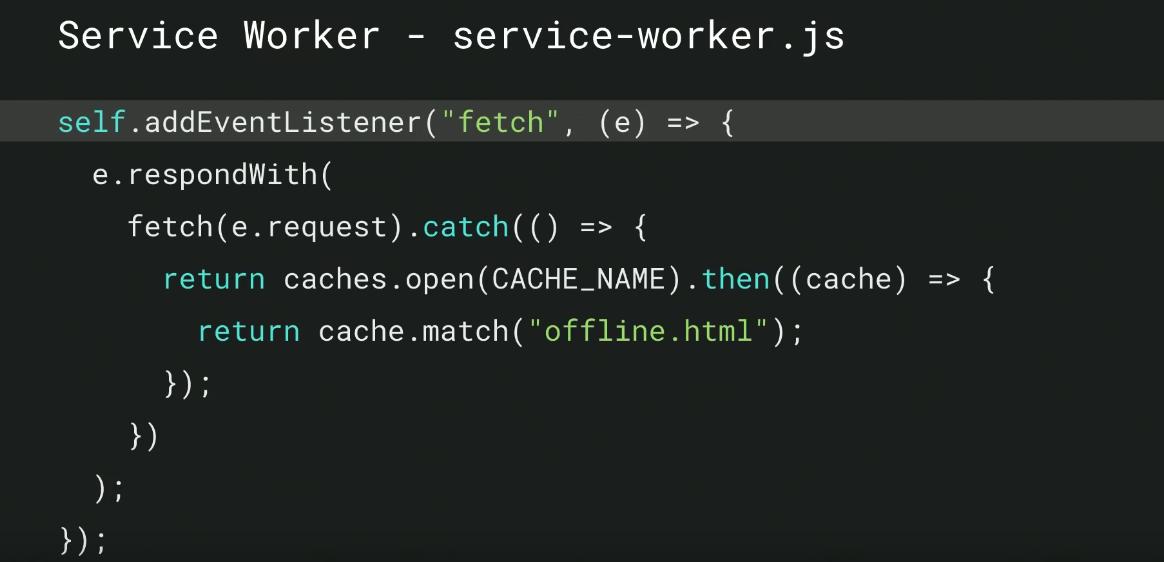 service worke;r code 3