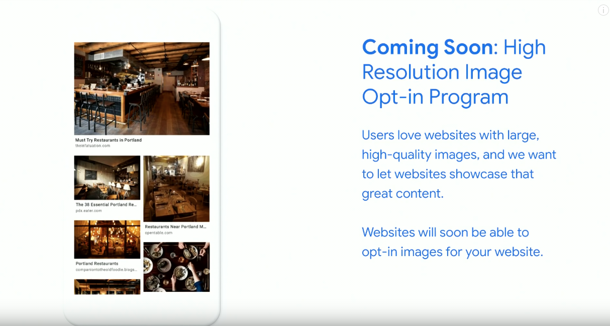 Google High res image program