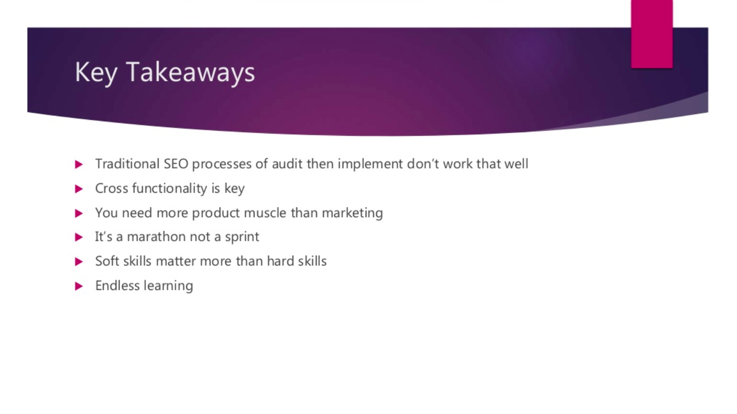 Enterprise SEO Key Takeaways