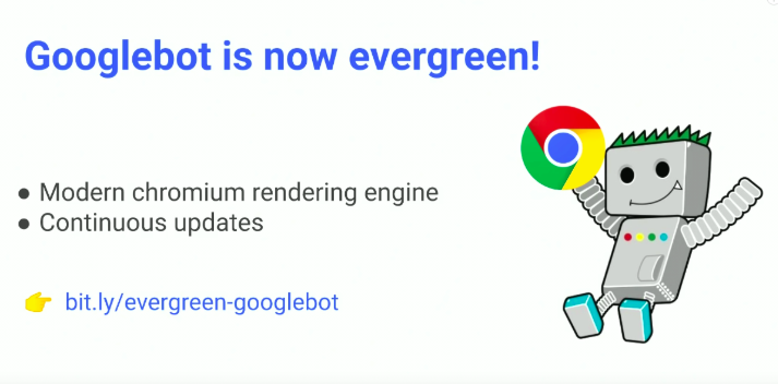 googlebot rendering update