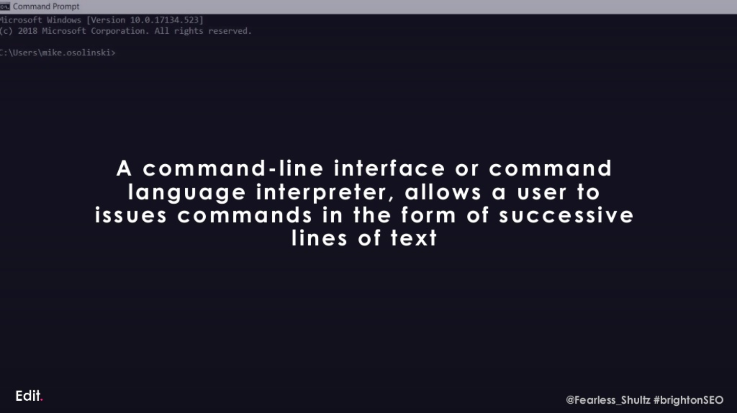 What is the command line