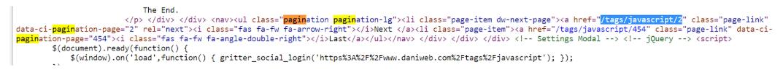 Example of hidden crawlable links in code