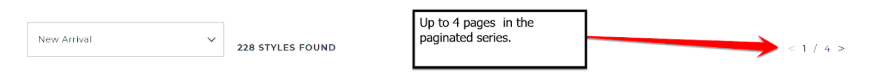 pagination with links