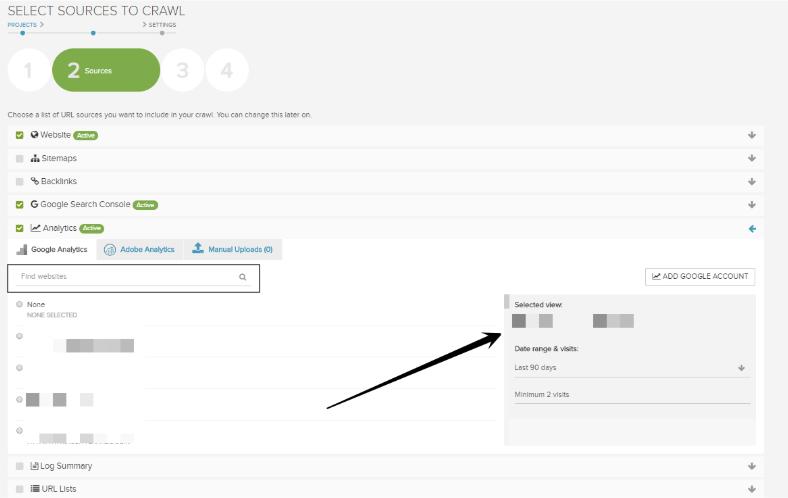 How to set up Google Analytics in DeepCrawl