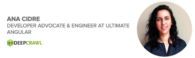 Ana Cidre, Developer Advocate and Engineer at Ultimate Angular