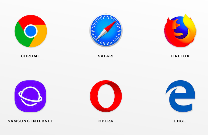 Logos of the different browsers