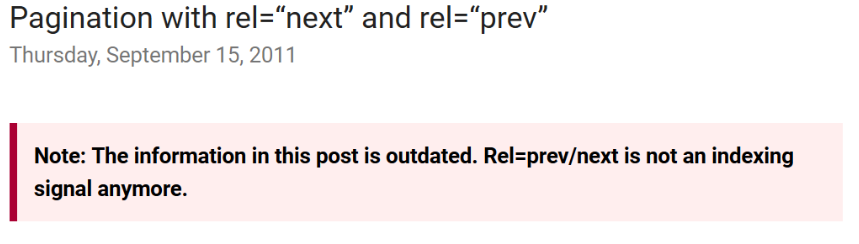 rel=next and rel=prev no longer a indexing signal